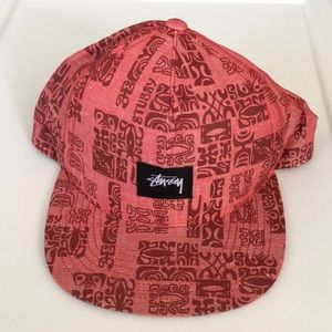 Stussy Adjustable Hat - Red - NEW